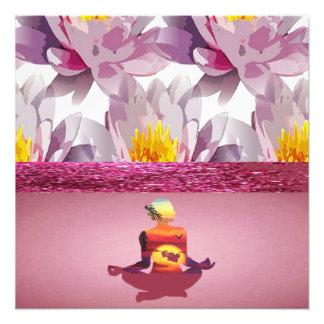 Lotus Flowers Meditation Lady Photo Print
