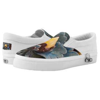 Lotus Flwr Custom Zipz Slip On Shoes,  Men & Women Printed Shoes