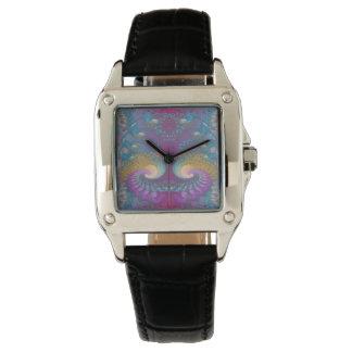 Lotus Fractal Art Wristwatches