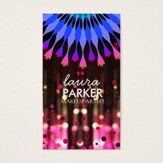 Lotus Glow Glitter Sparkle Makeup Artist Elegant Business Card