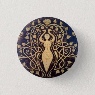 Lotus Goddess Button Pin