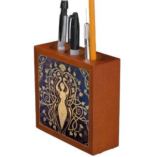Lotus Goddess Desk Organizer Pencil/Pen Holder