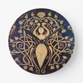 Lotus Goddess Wall Clock