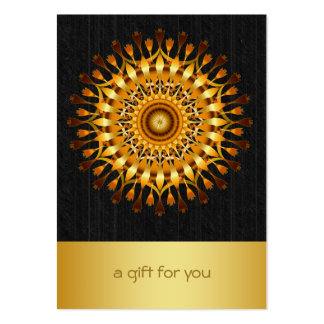 Lotus Gold Mandala Salon and Spa Gift Certificate Pack Of Chubby Business Cards