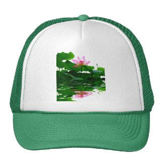 Lotus green water zen tranquility peace beautiful trucker hat