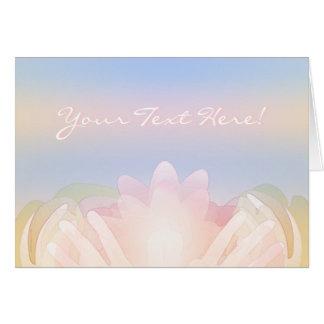 Lotus Hands Custom Celebration Card