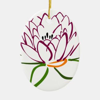 Lotus Heart Ceramic Oval Decoration