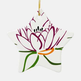 Lotus Heart Ceramic Star Decoration