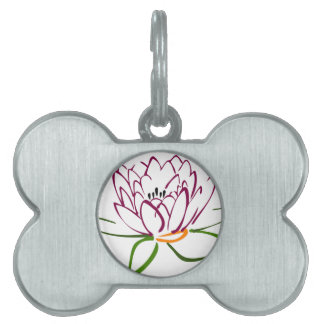 Lotus Heart Pet ID Tag