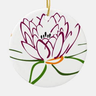 Lotus Heart Round Ceramic Decoration