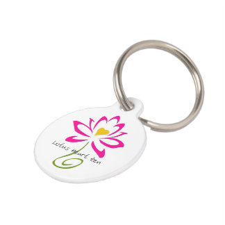 Lotus Heart Zen Pet Tag