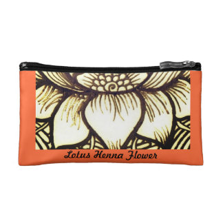 Lotus Henna Design Makeup Bags