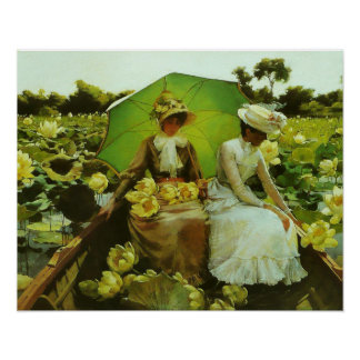 Lotus Lilies by Charles Courtney Curran Poster