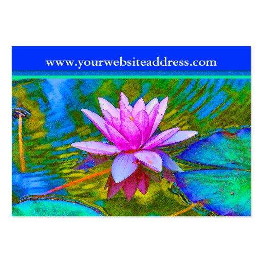 Lotus Lily Flower - Yoga Studio, Spa, Beauty Salon Business Cards