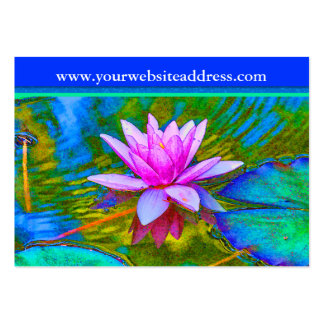 Lotus Lily Flower - Yoga Studio, Spa, Beauty Salon Pack Of Chubby Business Cards