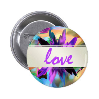 Lotus Love Flower Watercolor Yoga Holistic 6 Cm Round Badge