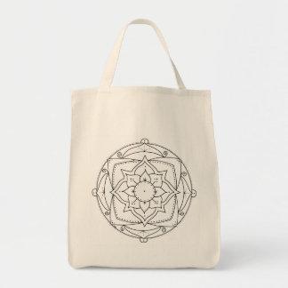 Lotus Mandala Tote Bag to Color