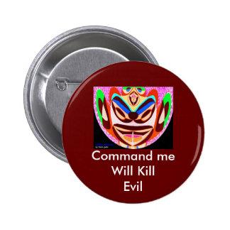 Lotus Mascot  - Will Kill Evil 6 Cm Round Badge