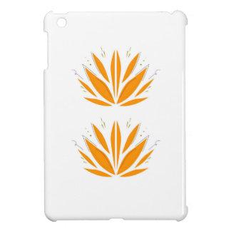 Lotus orange on white iPad mini cases