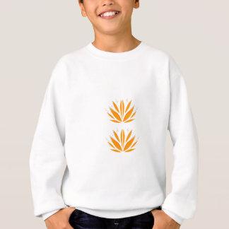 Lotus orange on white sweatshirt