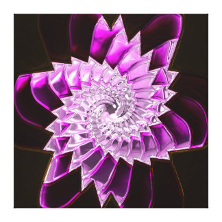 Lotus Pattern Glass Art 1A Canvas Prints