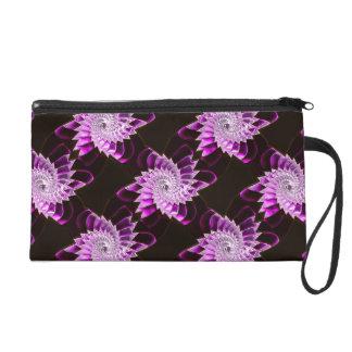 Lotus Pattern Glass Art 1A Wristlets Bag