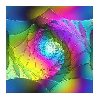 Lotus Pattern Glass Art 2A Gallery Wrap Canvas