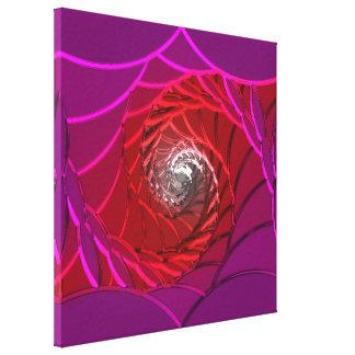 Lotus Pattern Glass Art 2B Gallery Wrap Canvas