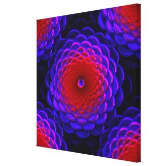 Lotus Pattern Glass Art 3B Canvas Prints