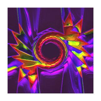 Lotus Pattern Glass Art 4 Canvas Prints