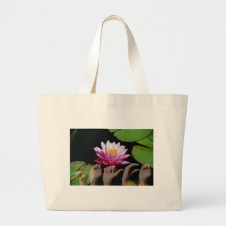 Lotus + Peace ASL Large Tote Bag