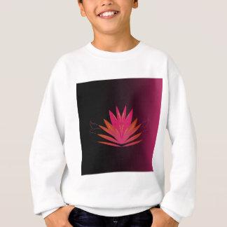Lotus pink on black sweatshirt