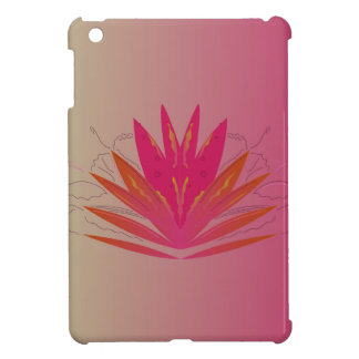 Lotus pinkorange case for the iPad mini