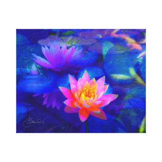 Lotus pond canvas print