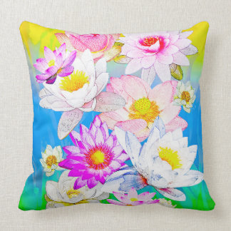 "Lotus pond Throw Pillow 20"" x 20"""