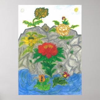 Lotus quietly Life Nr.4 Poster