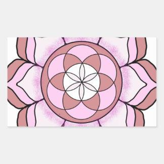 Lotus Rose Rectangular Sticker