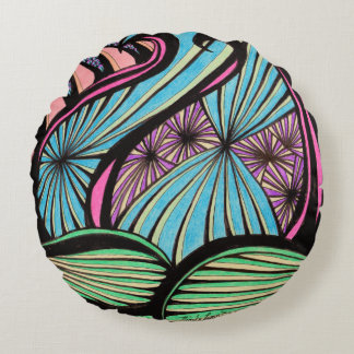 Lotus Round Pillow