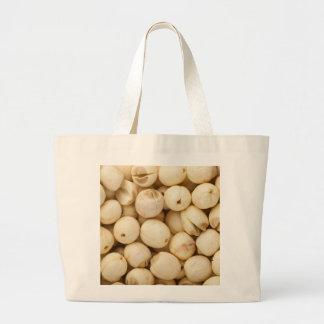 Lotus seeds large tote bag