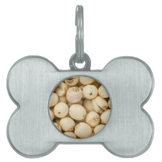 Lotus seeds pet name tag