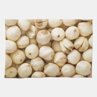 Lotus seeds tea towel