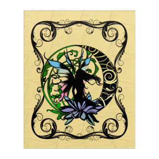 Lotus Shadow Fairy Acrylic Print