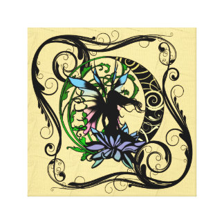 Lotus Shadow Fairy Canvas Print