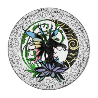 Lotus Shadow Fairy Cutting Board