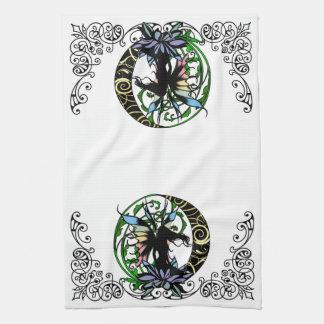 Lotus Shadow Fairy Tea Towel