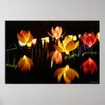 Lotus shaped lanterns for mid autumn festival