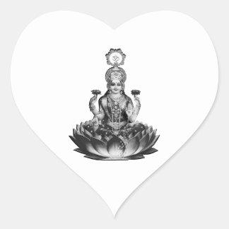 Lotus Song Heart Sticker