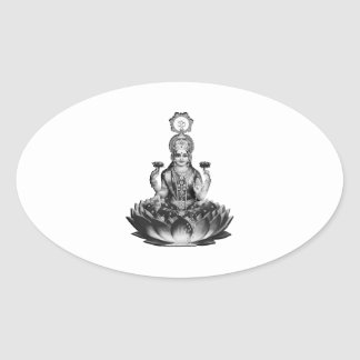 Lotus Song Oval Sticker