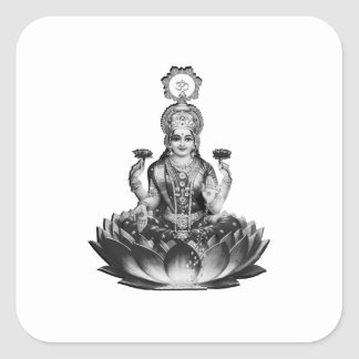 Lotus Song Square Sticker
