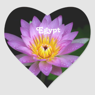 Lotus Heart Sticker